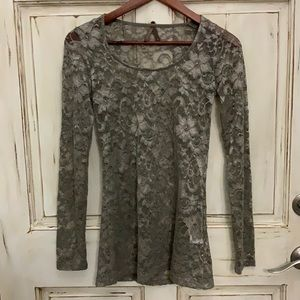 Women's Stetson Lace long Sleeve Top Size Small